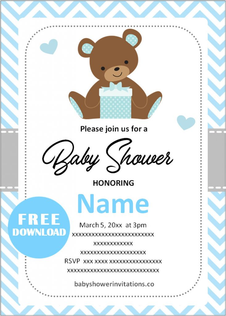 Free Printable Baby Shower Invitation Templates For Boys