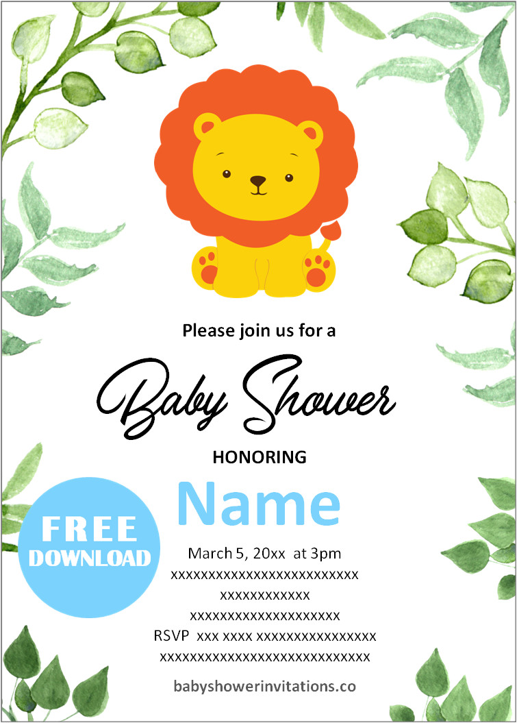 Free digital baby shower invitations