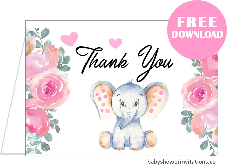 Free Baby Shower Thank You Cards Templates Printables