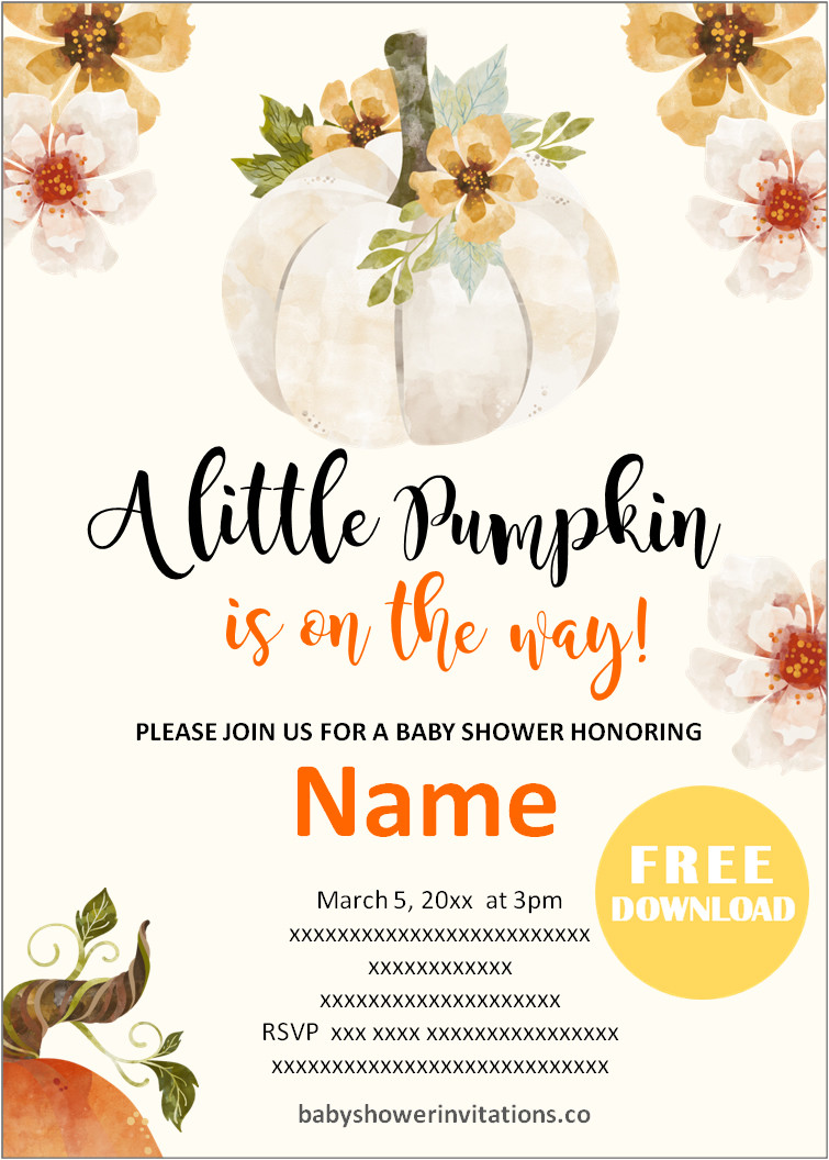 Fall Baby Shower Invitations Free Printable