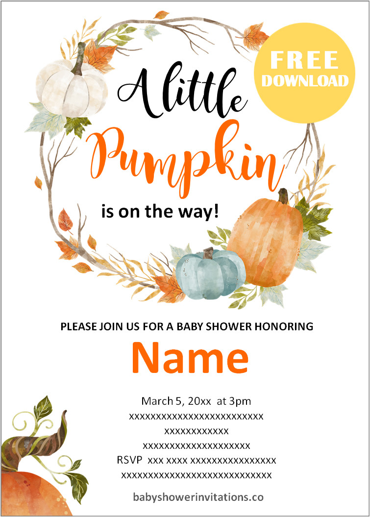 Free Fall Baby Shower Invitations Templates