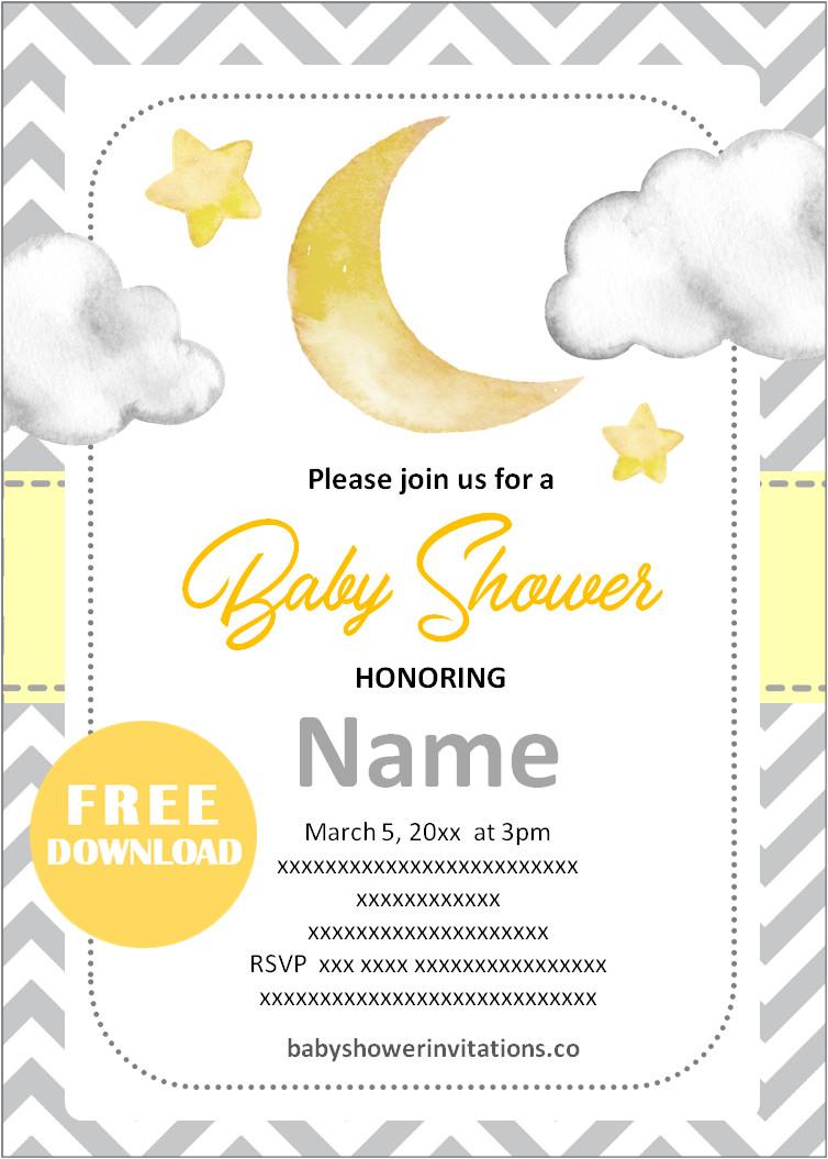 Gender Neutral online baby shower invitations